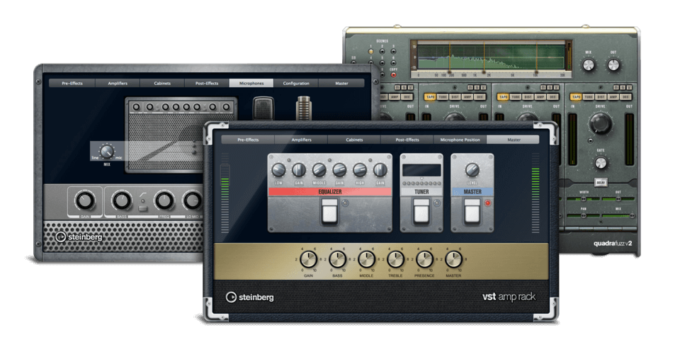 Steinberg VST Amp Rack and VST Bass Amp best usb audio interface