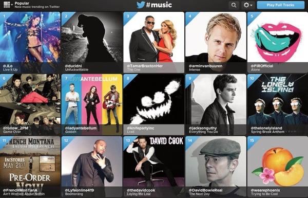 twitter music screengrab