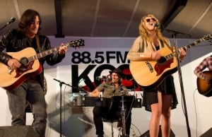 Grace Potter and the Nocturnals perform with 88.5 KCSN public radio. (Photo by Esoteric Sapience)