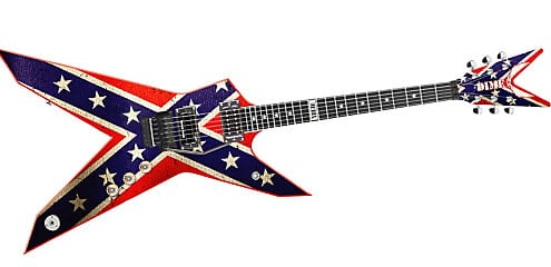 dean dimebag rebel guitar