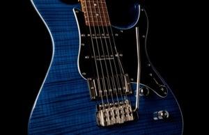 Yamaha Pacifica 612VII guitar translucent blue