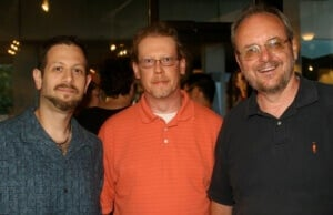 Me with Tony Schultz, now Eastern VP of AES, and mentor/friend David Moulton